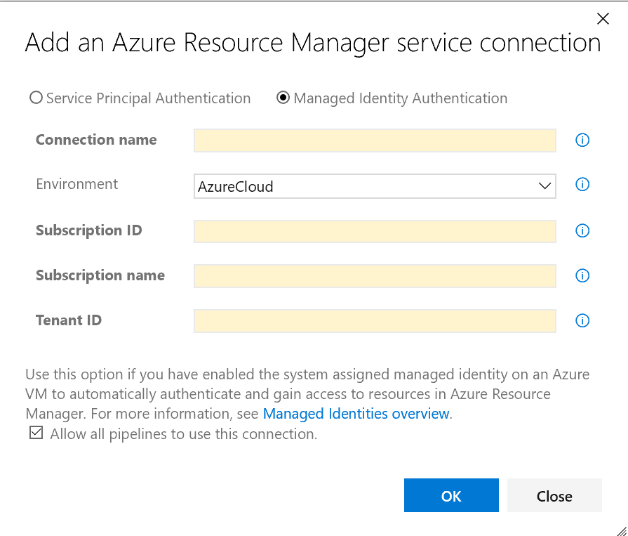 Managed Identity in Azure DevOps Service Connections