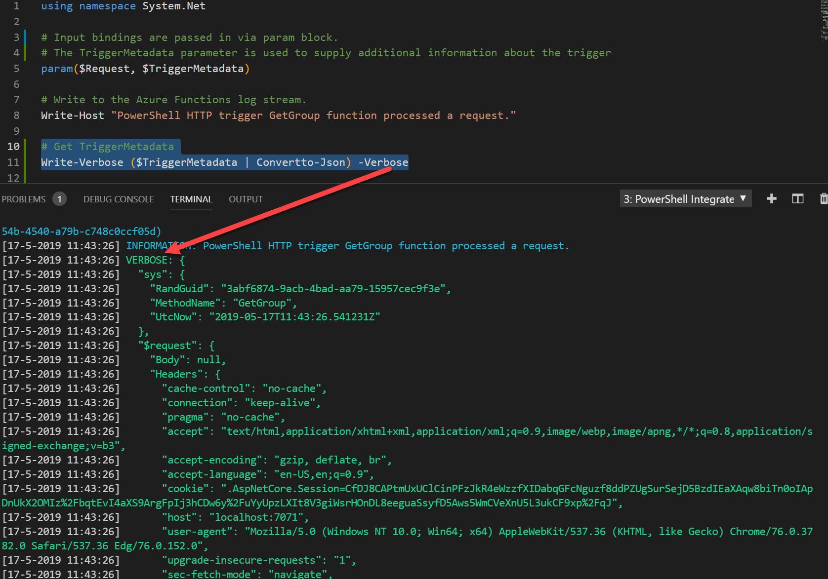 Logging in PowerShell for Azure functions – Stefan