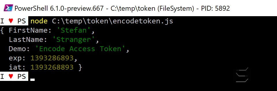 Encoded Access Token